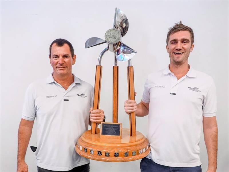 Australian National titles 2017 winners podium shot showing Tom Barry-Cotter and Steve Jellick - photo © Maritimo