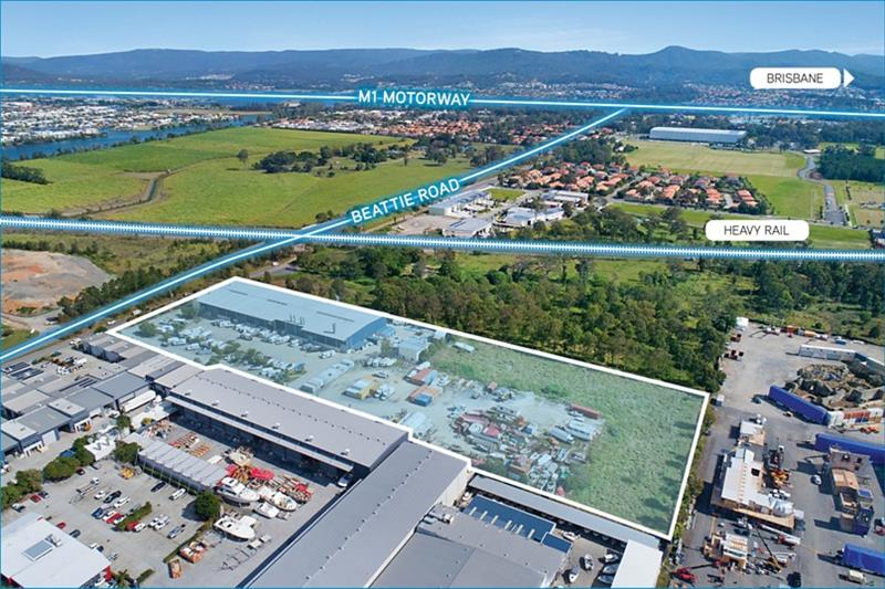 Aerial images of the adjoining commercial industrial property Maritimo has purchased to expand its facility at Coomera - photo © Maritimo
