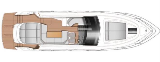 V50 Open - main deck - photo © Princess Yachts