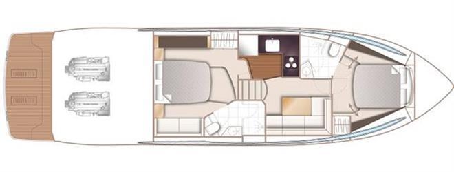 V50 Deck Saloon – lower deck - photo © Princess Yachts