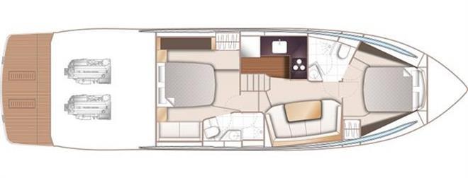 V50 Open – lower deck - photo © Princess Yachts