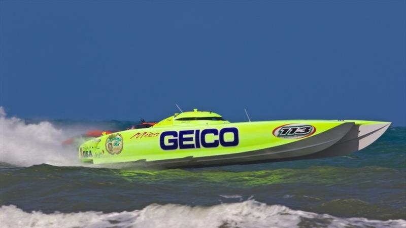 Offshore racing champion Miss Geico will be on display at this year's Providence Boat Show - photo © Miss Geico