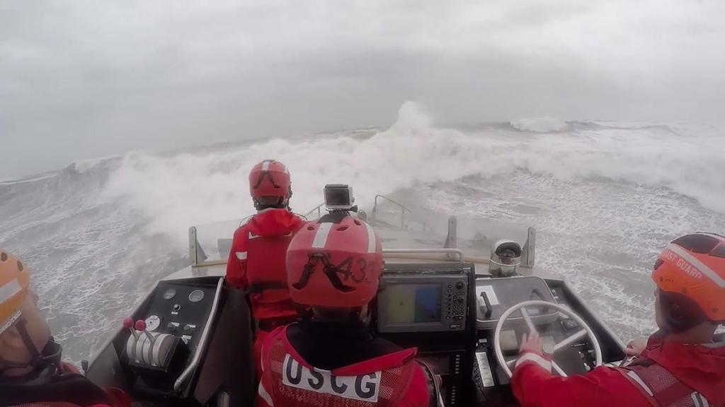 Coast guard station conducts surf drills in oregon inlet nc for Nc surf fishing calendar
