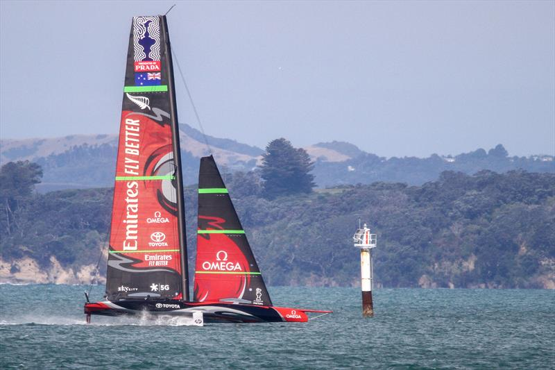 Emirates Team New Zealand - AC75 - Te Aihe - December 11, 2019, Waitemata Harbour photo copyright Richard Gladwell / Sail-World.com taken at Royal New Zealand Yacht Squadron and featuring the AC75 class