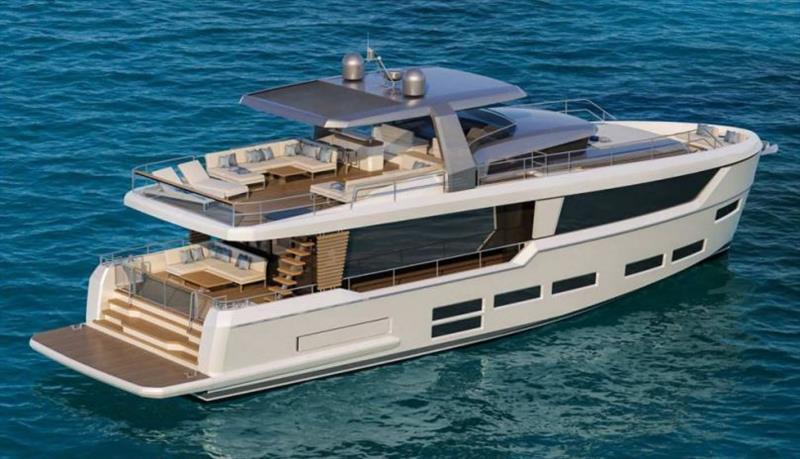 Project E - second model - 22.28 metres long (73'1'') - photo © Beneteau