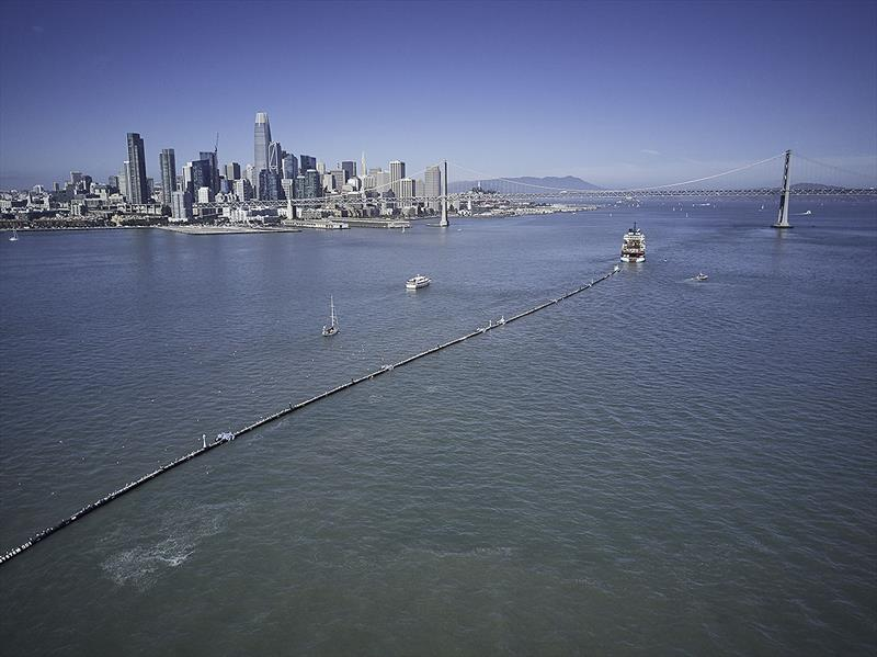 The world's first Ocean Cleanup System launched from San Francisco - photo © The Ocean Cleanup