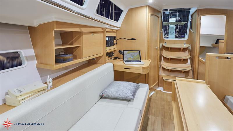 Jeanneau Sun Odyssey 319 - Wide lounges and gentle incline on the companionway - photo © Jeanneau France