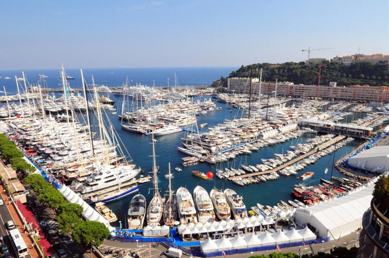 Port Hercule full for the 2019 Monaco Yacht Show 2019 - photo © Maddie Spencer