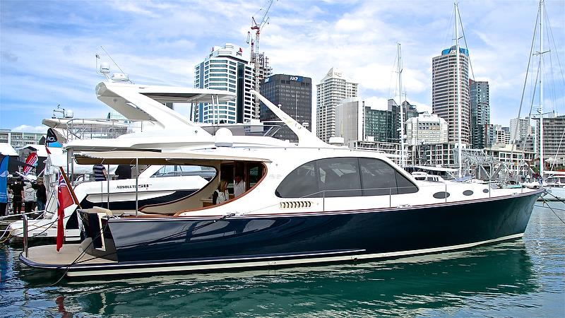 Grand Banks / Palm Beach Motor Yachts - hard to believe this is a seven year old vessel - Auckland On the Water Boat Show - Day 4 - September 30, 2018 - photo © Richard Gladwell