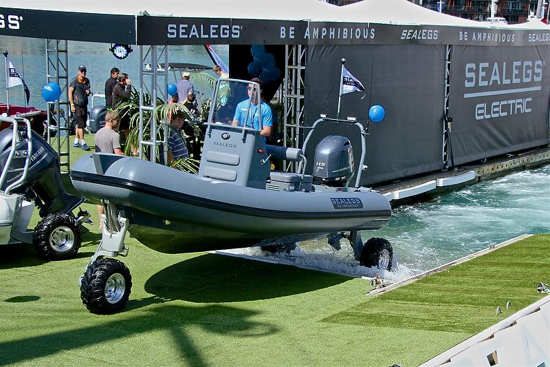 Sealegs emerges from a demonstration - Auckland On the Water Boat Show - Day 4 - September 30, 2018 - photo © Richard Gladwell