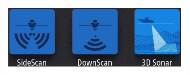 Quick and easy access to Sonar - photo © Simrad