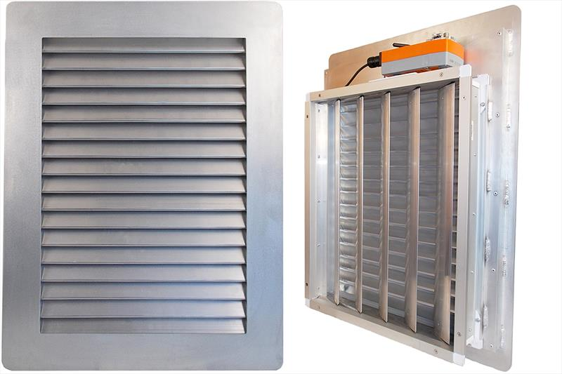 New Marine Louvered Panel has integrated damper