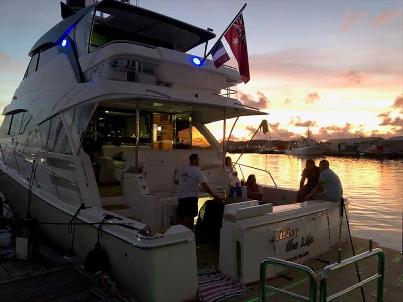 New Caledonia nights light up the Fleming's Riviera 68 Sports Motor Yacht photo copyright Riviera Australia taken at