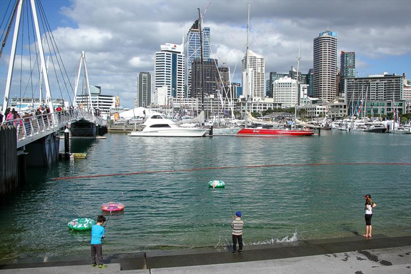 Getting in a spot of fishing - Auckland On the Water Boat Show - Final day - October 6, 2019 - photo © Richard Gladwell