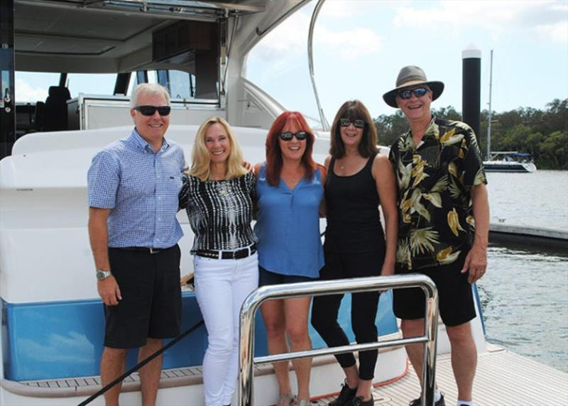 End of the voyage – Mike and Diane with Shelly Tomberg, Cherie Hill and Bob Tomberg. - photo © Riviera Australia