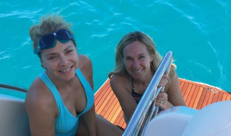 Ready for a swim in the clear Whitsundays waters, Tamara Nelson and Diane - photo © Riviera Australia