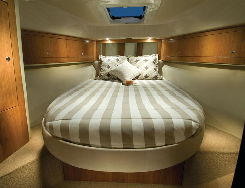 Master Stateroom of the Riviera 3600 Sport Yacht. - photo © Riviera Studio