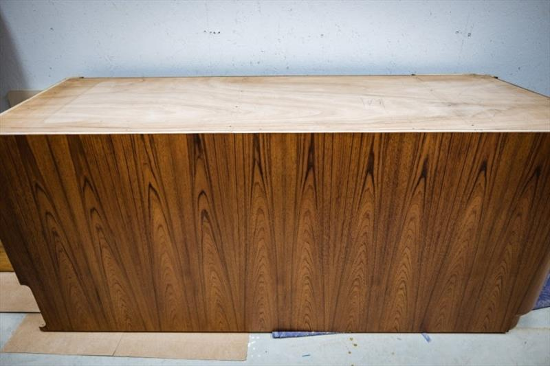 Finished galley cabinet - photo © Bayliss Boatworks
