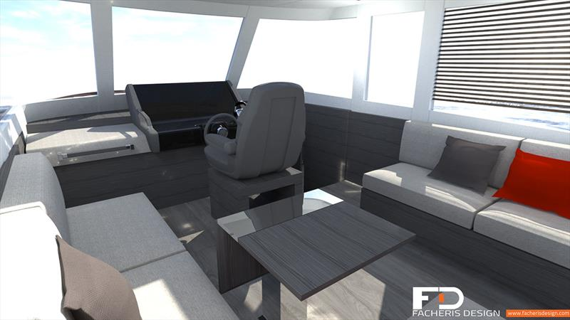 Hudson Bay 540 interior photo copyright Facheris Design taken at  and featuring the Power boat class