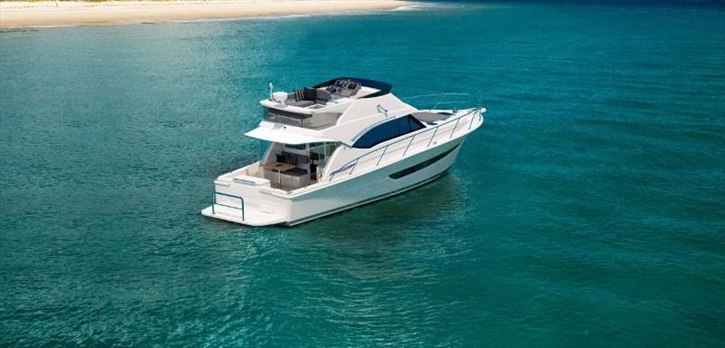 An extended flybridge is a feature of the Riviera 39 Sports Motor Yacht - photo © Riviera Australia
