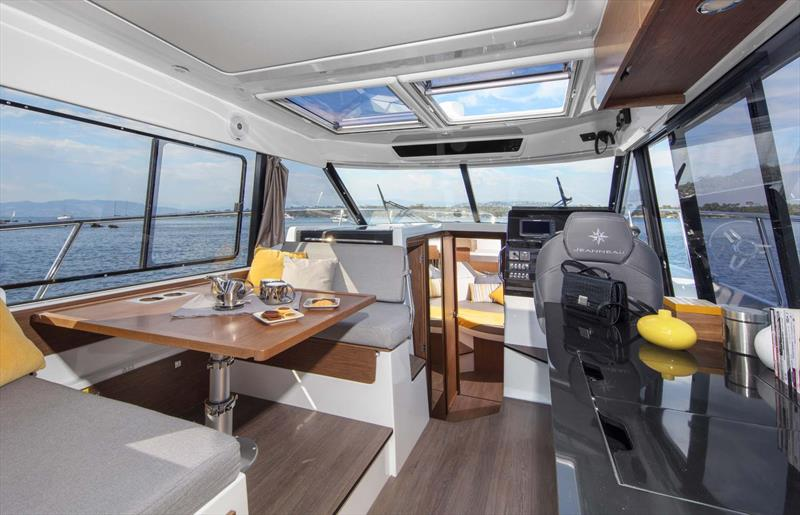Merry Fisher 1095 Pilothouse is generous and airy. - photo © Jeanneau