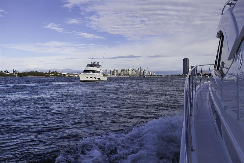 Iconic Gold Coast serves as a great backdrop for Riviera's 72 Sport Motor Yacht - photo © John Curnow