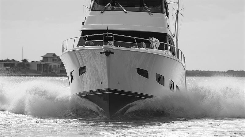 Effortlessly disposing of nautical miles in grand style - Riviera 72 Sports Motor Yacht - photo © John Curnow