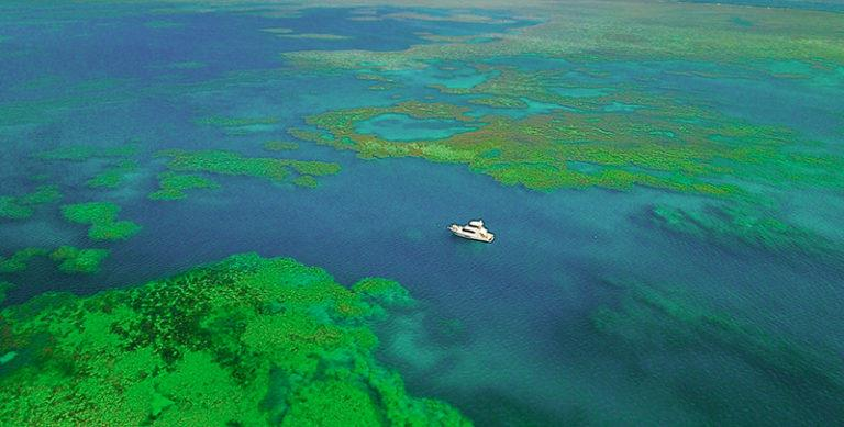 Anchored at Bait Reef, Great Barrier Reef. - photo © Riviera Australia