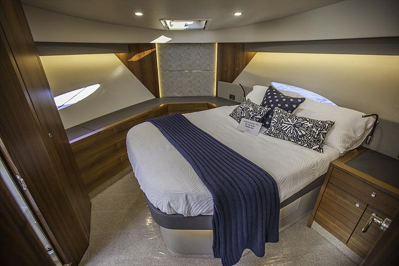 Up for'ard in the VIP Stateroom of the Maritimo X60 - photo © John Curnow
