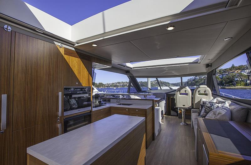 One of the must haves - the sunroof above the galley on board the Maritimo X60 - photo © John Curnow