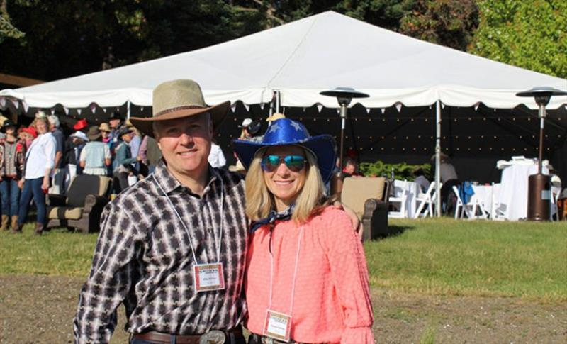 Mike and Diane Holmes attended Roche Harbor for the first time. - photo © Riviera Australia