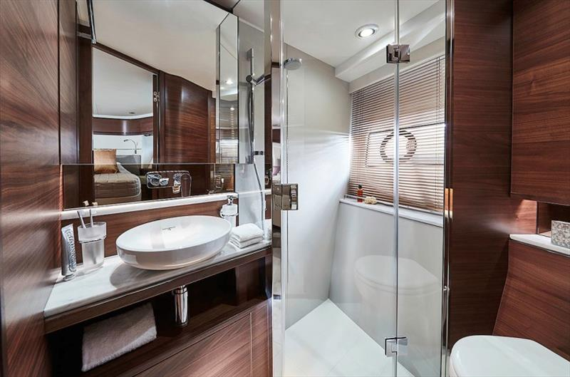 Princess F70 - Forward Bathroom photo copyright Princess Yachts taken at  and featuring the Power boat class