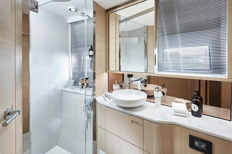 Princess V60 Forward Bathroom - photo © Princess Yachts