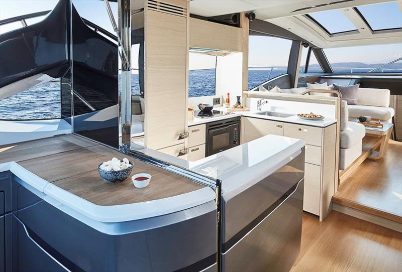 Princess V60 Galley - photo © Princess Yachts
