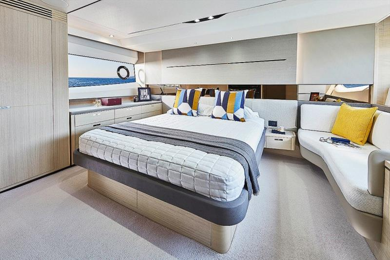 Princess V60 Master Stateroom - photo © Princess Yachts