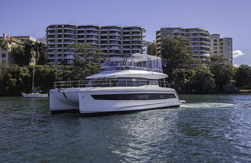 Fountaine Pajot MY44 in Rushcutters Bay - photo © John Curnow