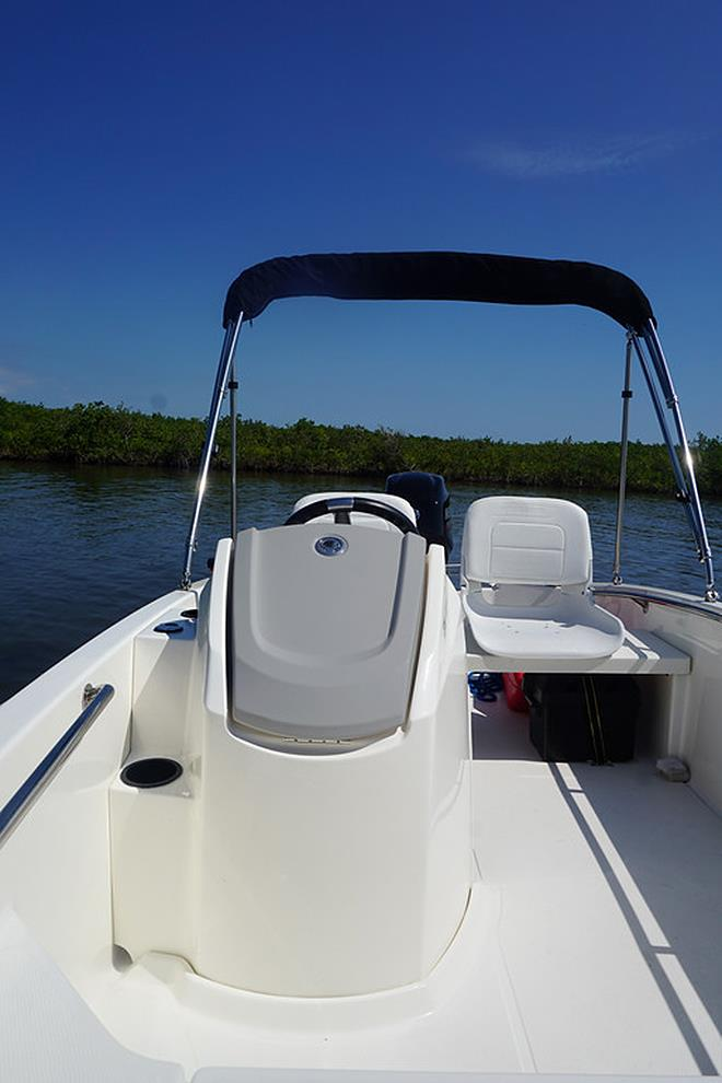 Console storage (130 Super Sport) photo copyright Boston Whaler taken at  and featuring the Power boat class
