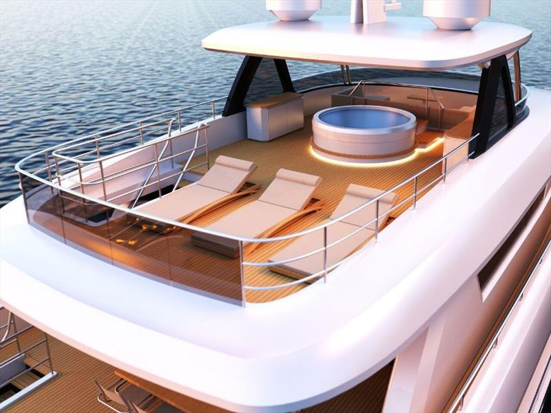 Johnson 115 Fly Aft - photo © Johnson Yachts