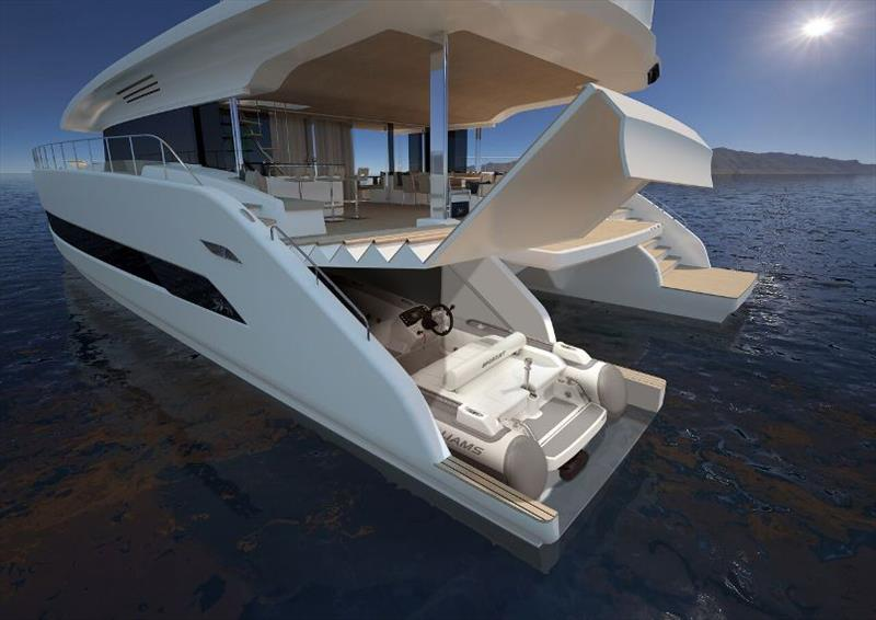 Silent 79 render - Tender Garage - photo © Silent Yachts