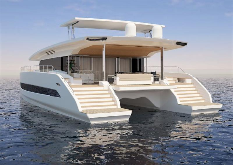 Silent 79 render - photo © Silent Yachts