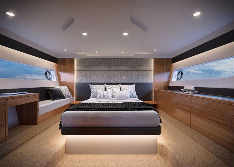 Maritimo X50 Master Cabin photo copyright Maritimo taken at  and featuring the Power boat class