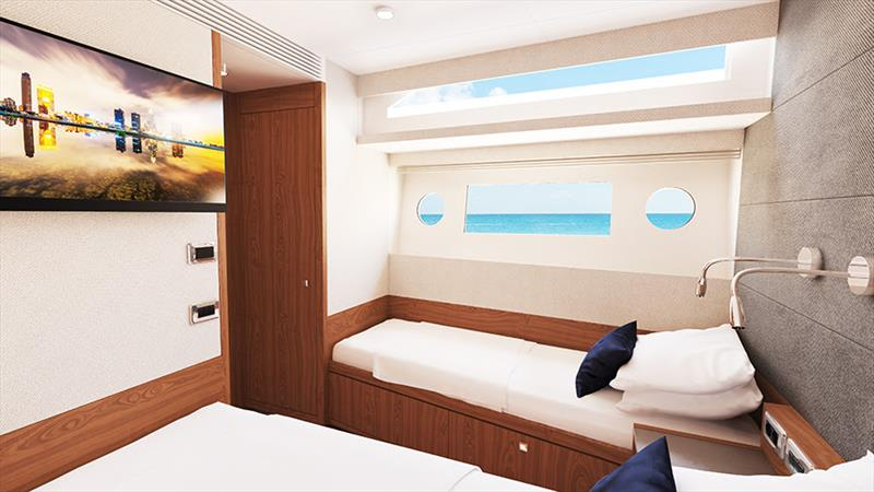 Johnson 70 Port Guest Cabin - photo © Sand People