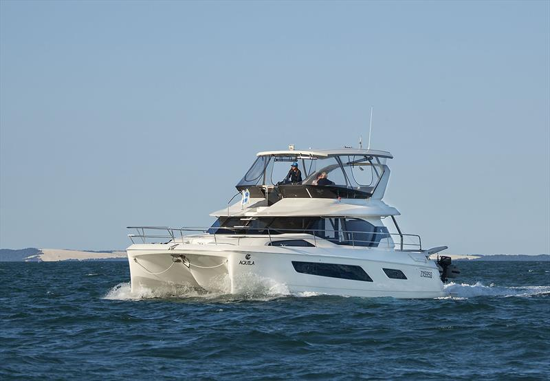 An Aquila 44 powerboat on Moreton Bay - great cruising boat in awesome cruising grounds... - photo © John Curnow