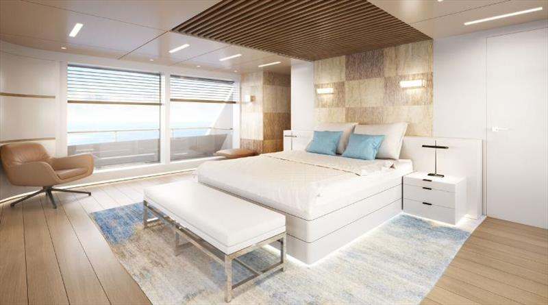 Owner Cabin - RSY 35m SVY Ceccarelli - photo © Rosetti Superyachts