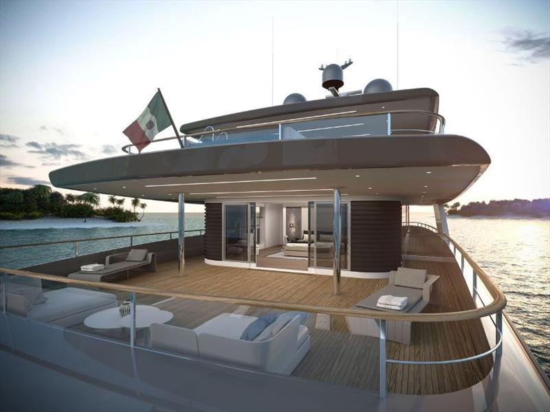 Exterior living - RSY 50m SVY Ceccarelli - photo © Rosetti Superyachts
