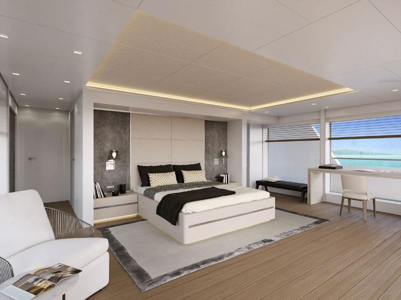 Owner Cabin - RSY 50m SVY Ceccarelli - photo © Rosetti Superyachts