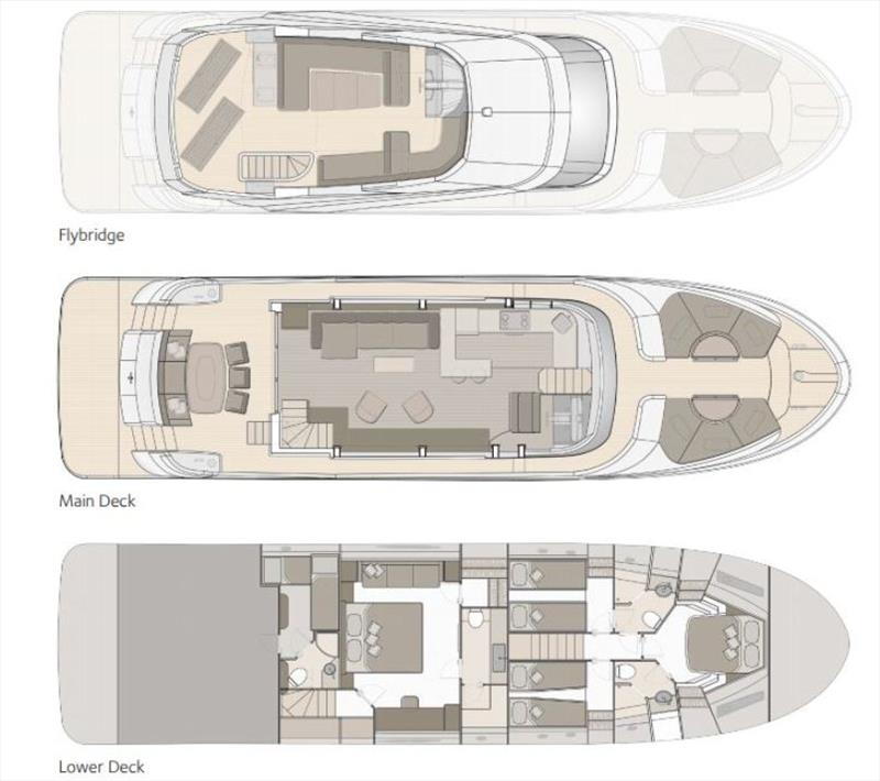 MCY 70 - General arrangements - photo © Monte Carlo Yachts