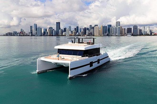 Sunreef Yachts ready for the Miami Yacht Show 2019 photo copyright Sunreef Yachts taken at  and featuring the Power boat class