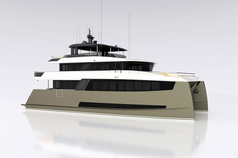 Tri-deck 25-metre catamaran design - photo © Amasea Yachts