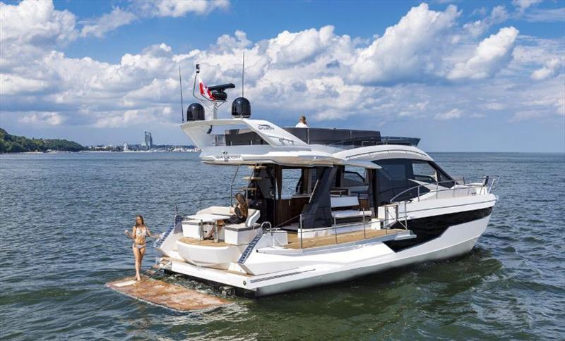 Galeon 460 Fly Swim Platform photo copyright Galeon taken at  and featuring the Power boat class
